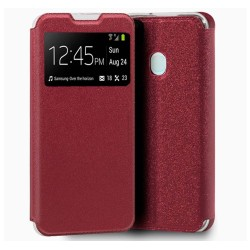 Funda Libro Soporte con Ventana para Samsung Galaxy A21s color Roja