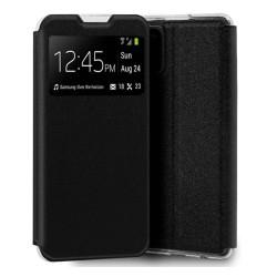 Funda Libro Soporte con Ventana para Samsung Galaxy A31 color Negra