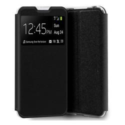 Funda Libro Soporte con Ventana para Xiaomi Redmi 9A / 9AT color Negra