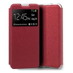 Funda Libro Soporte con Ventana para Xiaomi Redmi 9A / 9AT color Roja
