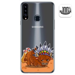 Funda Gel Transparente para Samsung Galaxy A20s diseño Bufalo Dibujos