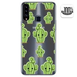 Funda Gel Transparente para Samsung Galaxy A20s diseño Cactus Dibujos