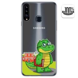 Funda Gel Transparente para Samsung Galaxy A20s diseño Coco Dibujos