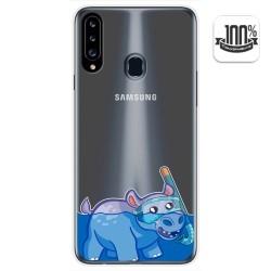 Funda Gel Transparente para Samsung Galaxy A20s diseño Hipo Dibujos