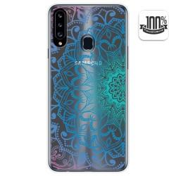 Funda Gel Transparente para Samsung Galaxy A20s diseño Mandala Dibujos