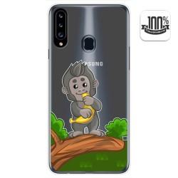 Funda Gel Transparente para Samsung Galaxy A20s diseño Mono Dibujos