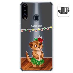 Funda Gel Transparente para Samsung Galaxy A20s diseño Suricata Dibujos