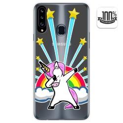 Funda Gel Transparente para Samsung Galaxy A20s diseño Unicornio Dibujos