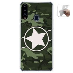 Funda Gel Tpu para Samsung Galaxy A20s diseño Camuflaje 01 Dibujos
