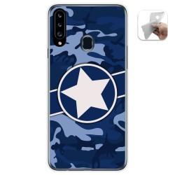 Funda Gel Tpu para Samsung Galaxy A20s diseño Camuflaje 03 Dibujos