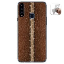 Funda Gel Tpu para Samsung Galaxy A20s diseño Cuero 01 Dibujos