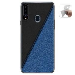 Funda Gel Tpu para Samsung Galaxy A20s diseño Cuero 02 Dibujos