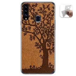 Funda Gel Tpu para Samsung Galaxy A20s diseño Cuero 03 Dibujos