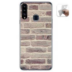 Funda Gel Tpu para Samsung Galaxy A20s diseño Ladrillo 01 Dibujos