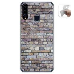 Funda Gel Tpu para Samsung Galaxy A20s diseño Ladrillo 02 Dibujos