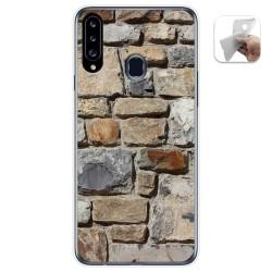 Funda Gel Tpu para Samsung Galaxy A20s diseño Ladrillo 03 Dibujos