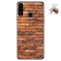Funda Gel Tpu para Samsung Galaxy A20s diseño Ladrillo 04 Dibujos