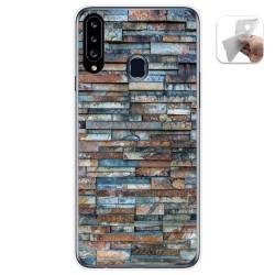 Funda Gel Tpu para Samsung Galaxy A20s diseño Ladrillo 05 Dibujos