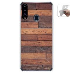 Funda Gel Tpu para Samsung Galaxy A20s diseño Madera 03 Dibujos