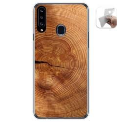 Funda Gel Tpu para Samsung Galaxy A20s diseño Madera 04 Dibujos