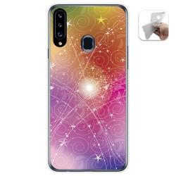 Funda Gel Tpu para Samsung Galaxy A20s diseño Abstracto Dibujos