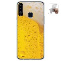 Funda Gel Tpu para Samsung Galaxy A20s diseño Cerveza Dibujos
