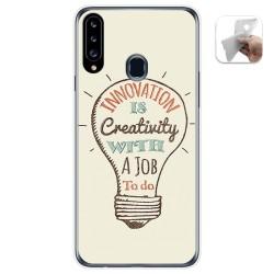 Funda Gel Tpu para Samsung Galaxy A20s diseño Creativity Dibujos