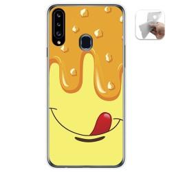 Funda Gel Tpu para Samsung Galaxy A20s diseño Helado Vainilla Dibujos