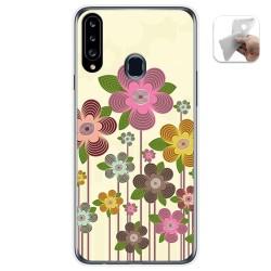 Funda Gel Tpu para Samsung Galaxy A20s diseño Primavera En Flor Dibujos