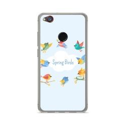 Funda Gel Tpu para Zte Nubia Z11 Mini Diseño Spring Birds Dibujos