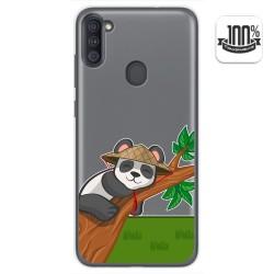 Funda Gel Transparente para Samsung Galaxy A11 diseño Panda Dibujos