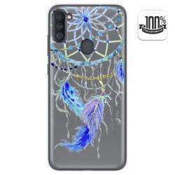 Funda Gel Transparente para Samsung Galaxy A11 / M11 diseño Plumas Dibujos
