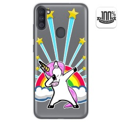 Funda Gel Transparente para Samsung Galaxy A11 diseño Unicornio Dibujos