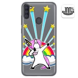 Funda Gel Transparente para Samsung Galaxy A11 / M11 diseño Unicornio Dibujos