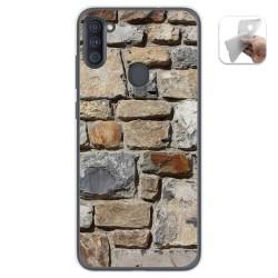 Funda Gel Tpu para Samsung Galaxy A11 diseño Ladrillo 03 Dibujos