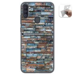 Funda Gel Tpu para Samsung Galaxy A11 diseño Ladrillo 05 Dibujos
