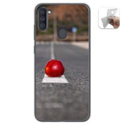 Funda Gel Tpu para Samsung Galaxy A11 diseño Apple Dibujos