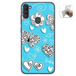 Funda Gel Tpu para Samsung Galaxy A11 diseño Mariposas Dibujos