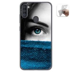 Funda Gel Tpu para Samsung Galaxy A11 diseño Ojo Dibujos
