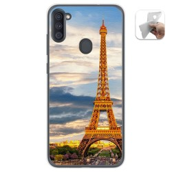 Funda Gel Tpu para Samsung Galaxy A11 diseño Paris Dibujos