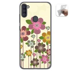 Funda Gel Tpu para Samsung Galaxy A11 diseño Primavera En Flor Dibujos