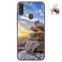 Funda Gel Tpu para Samsung Galaxy A11 diseño Sunset Dibujos