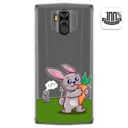 Funda Gel Transparente para Doogee N100 diseño Conejo Dibujos