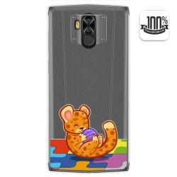 Funda Gel Transparente para Doogee N100 diseño Leopardo Dibujos