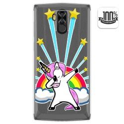 Funda Gel Transparente para Doogee N100 diseño Unicornio Dibujos
