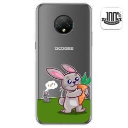 Funda Gel Transparente para Doogee X95 diseño Conejo Dibujos