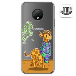 Funda Gel Transparente para Doogee X95 diseño Jirafa Dibujos