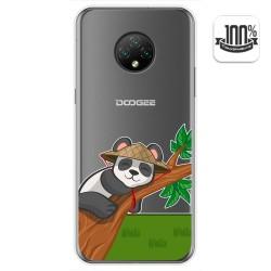 Funda Gel Transparente para Doogee X95 diseño Panda Dibujos