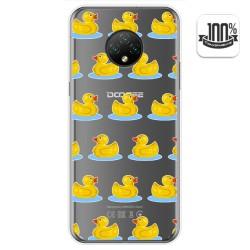 Funda Gel Transparente para Doogee X95 diseño Pato Dibujos