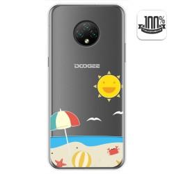 Funda Gel Transparente para Doogee X95 diseño Playa Dibujos